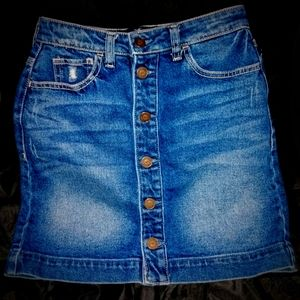 Hollister Bluejean Button Up Skirt
